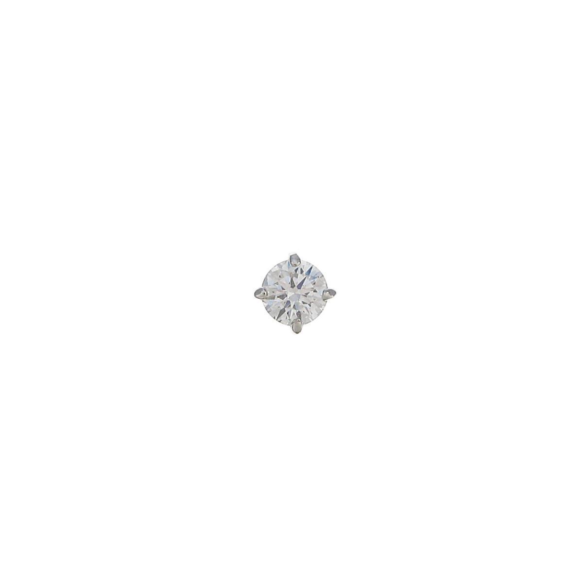 プラチナ ダイヤモンドピアス 0.222ct・D・VVS1・VG 片耳【中古】