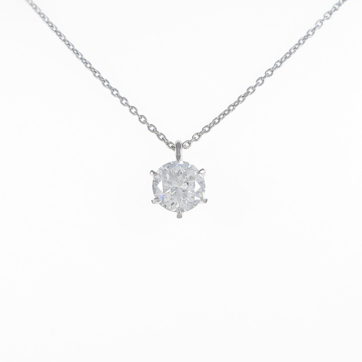 【リメイク】プラチナダイヤモンドネックレス 1.581ct・G・SI2・GOOD【中古】