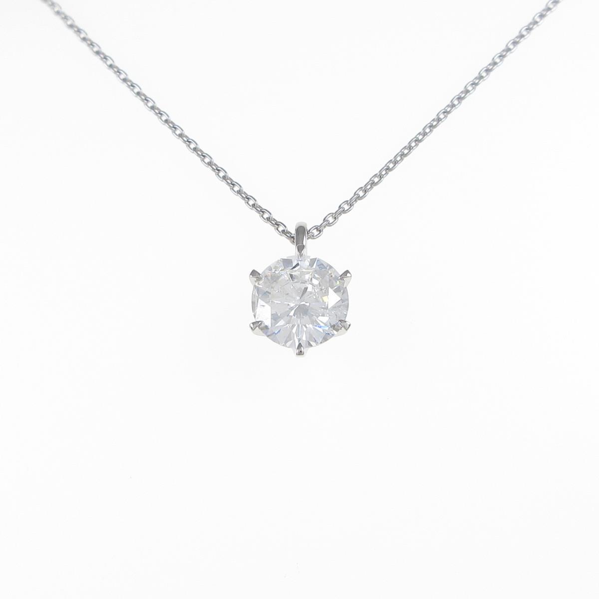 【リメイク】プラチナダイヤモンドネックレス 2.013ct・H・SI2・FAIR【中古】