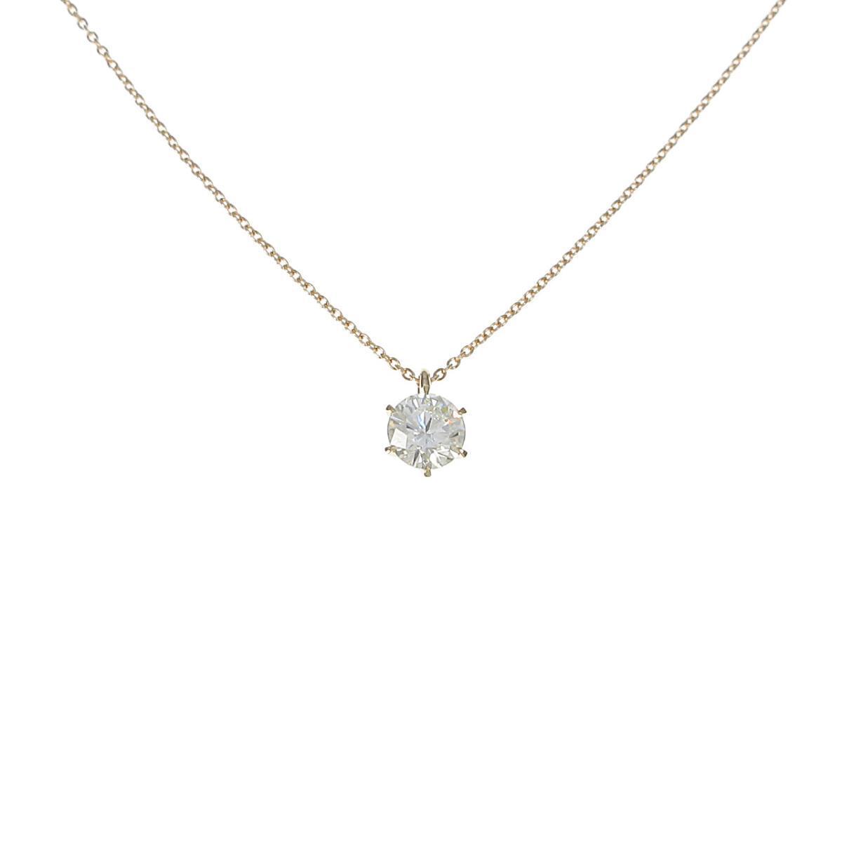 【リメイク】K18YG ダイヤモンドネックレス 1.021ct・VLY・SI1・GOOD【中古】