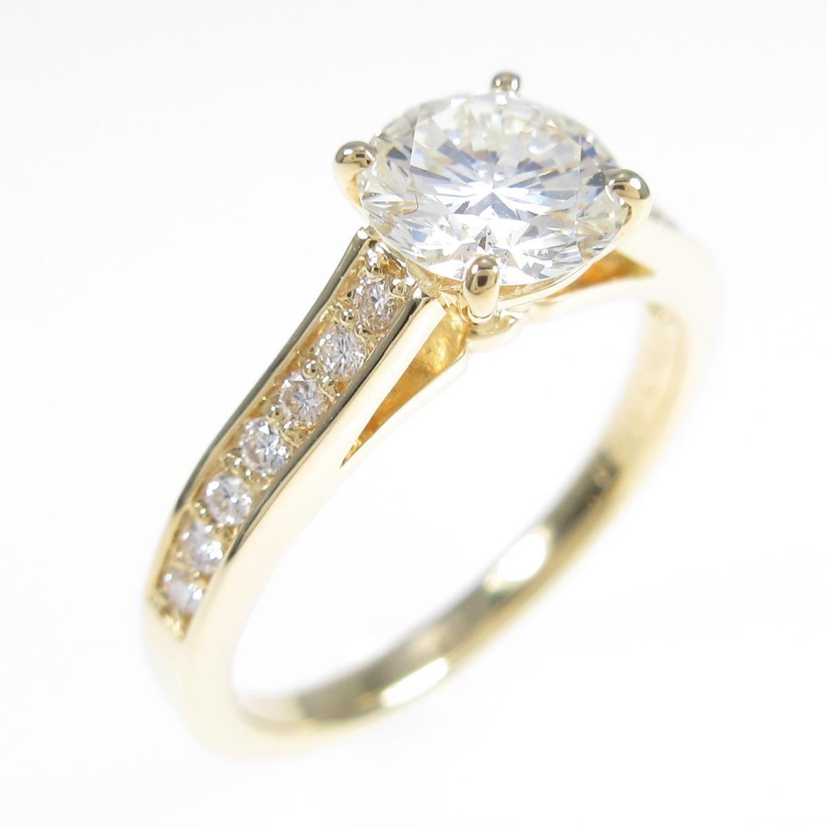 【リメイク】K18YG ダイヤモンドリング 0.761ct・K・VS2・GOOD【中古】