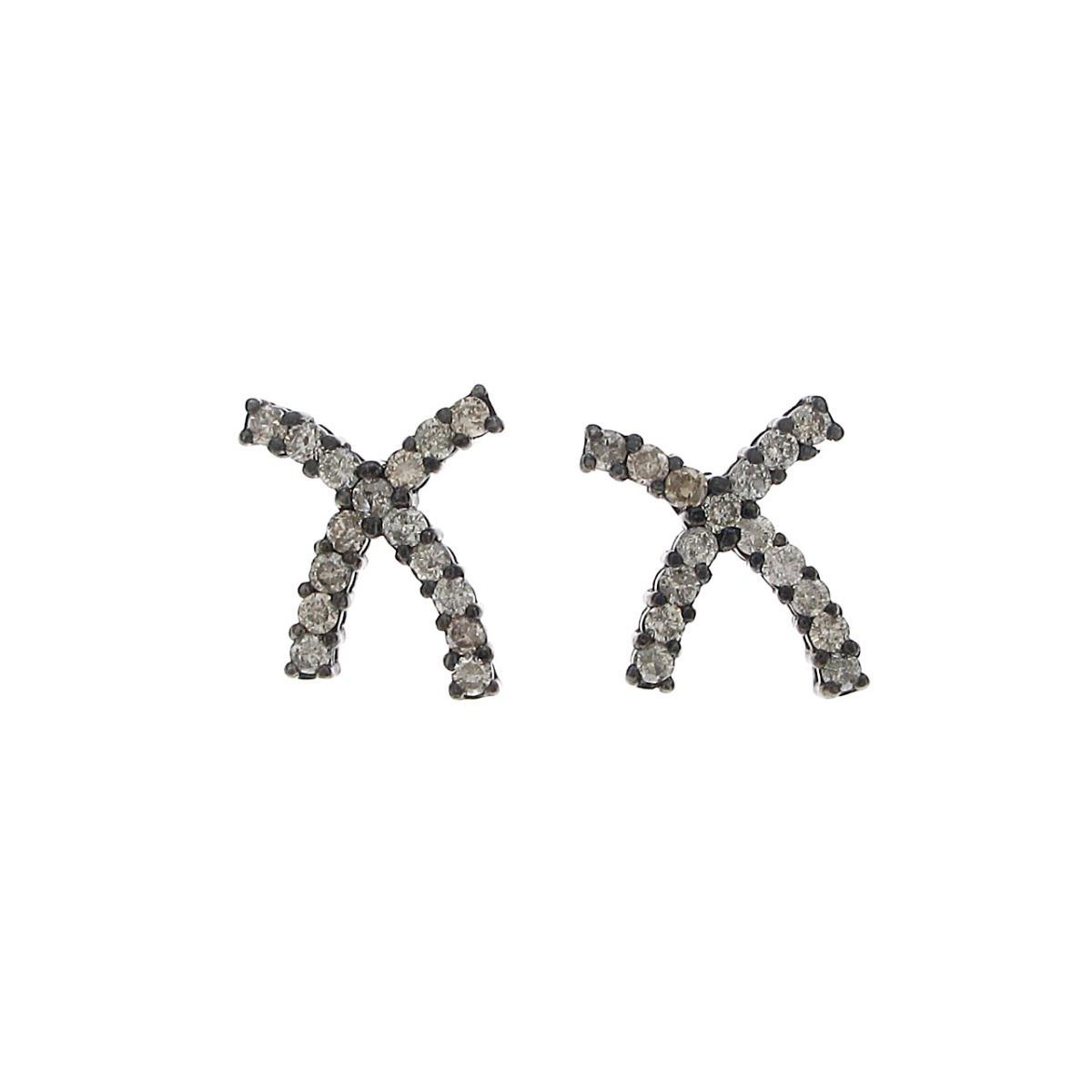 K18BG/K18WG ダイヤモンドピアス【中古】