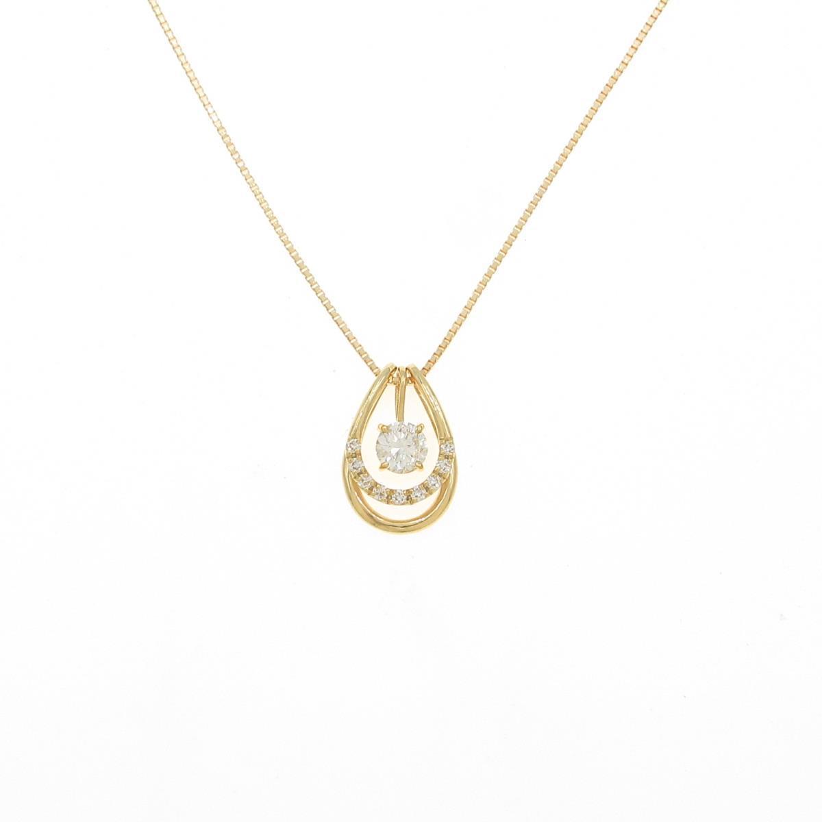 【新品】K18YG 2WAY ダイヤモンドネックレス 0.301ct・H・SI2・VG【新品】
