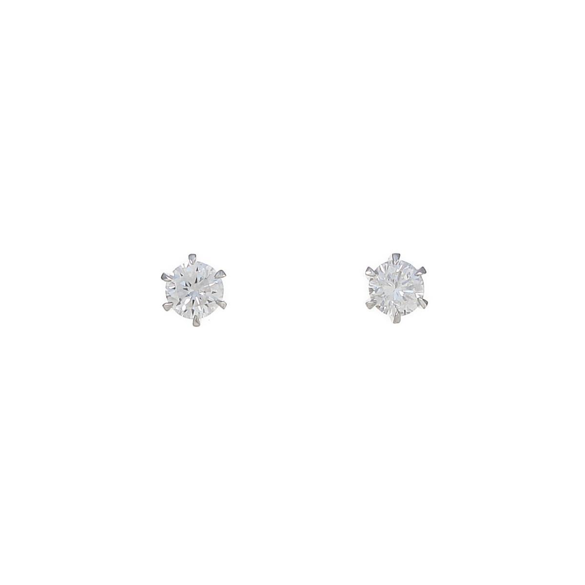 【リメイク】ST/プラチナダイヤモンドピアス 0.303ct・0.311ct・E-F・VS1・GOOD【中古】