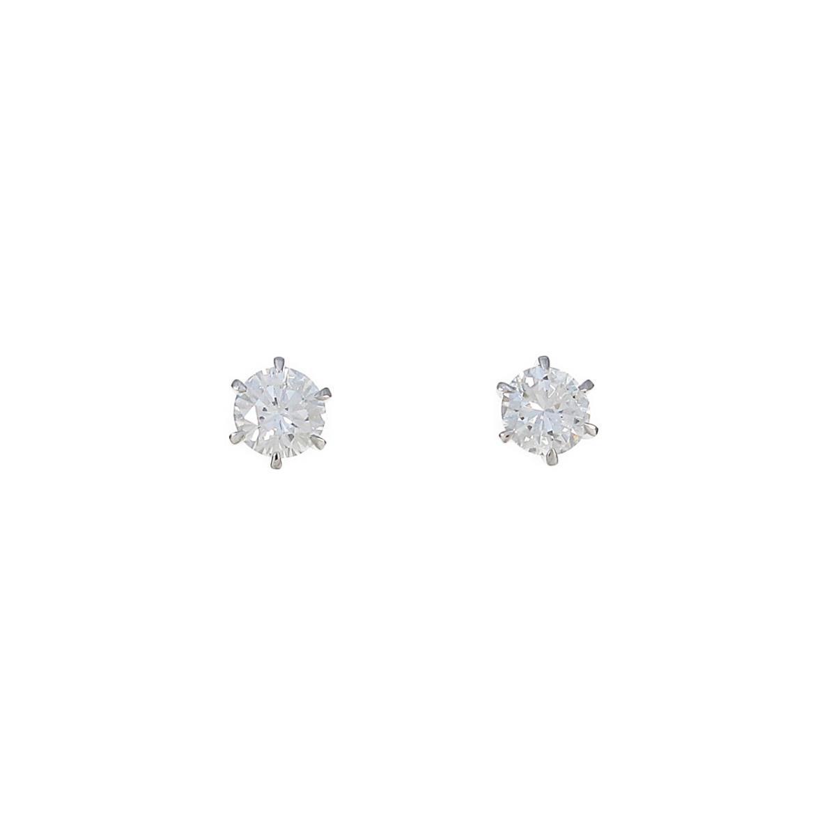 【リメイク】ST/プラチナダイヤモンドピアス 0.501ct・0.516ct・G・VVS2・VG-GOOD【中古】