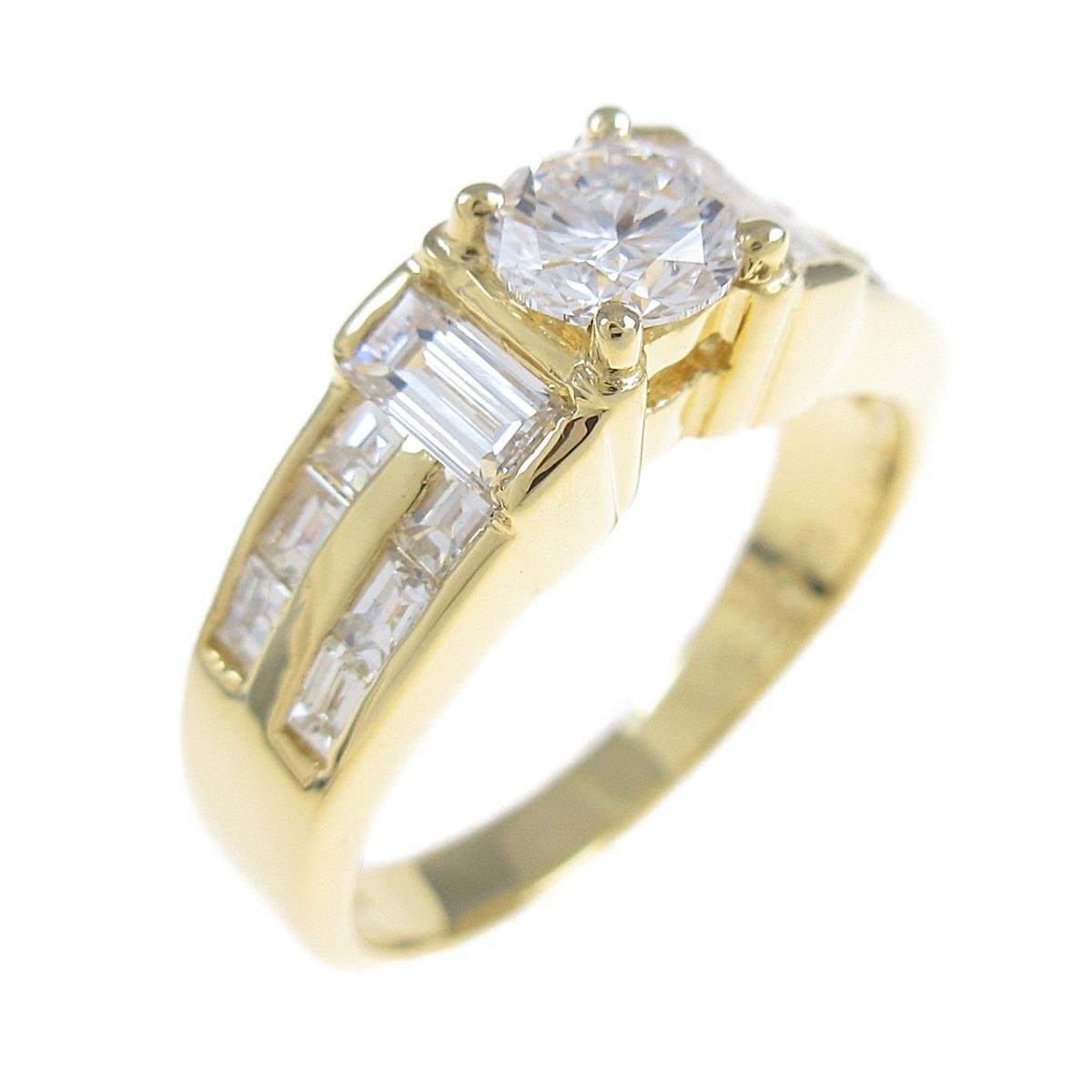 K18YG ダイヤモンドリング 0.364ct・E・SI2・GOOD【中古】