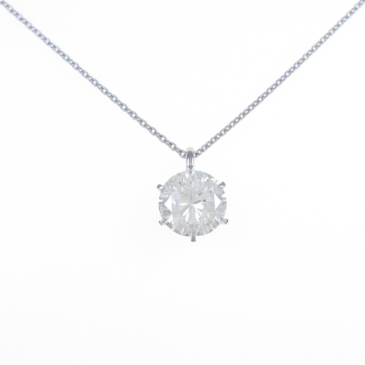 【リメイク】プラチナダイヤモンドネックレス 3.501ct・M・SI2・GOOD【中古】