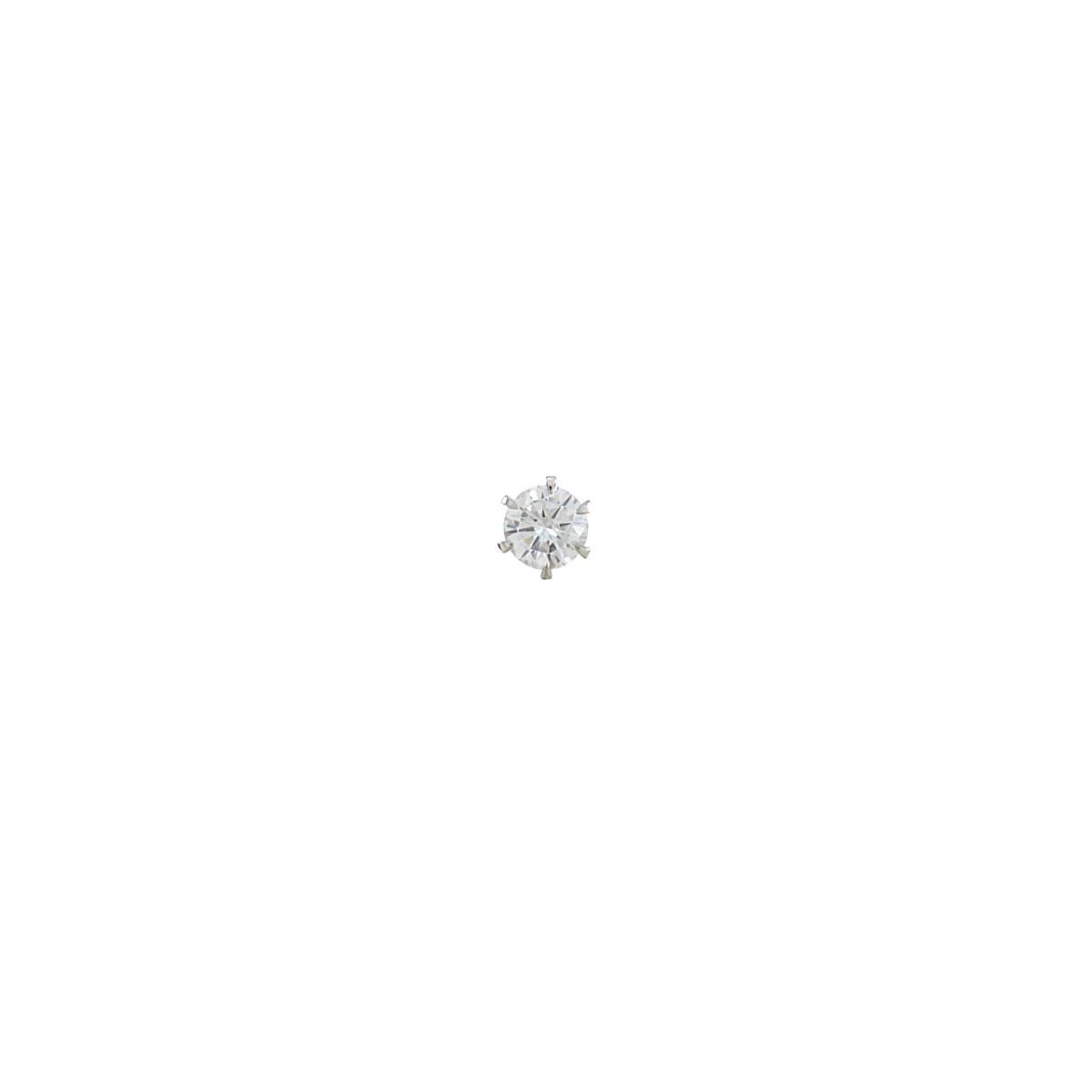 【リメイク】プラチナダイヤモンドピアス 0.309ct・D・I1・GOOD 片耳【中古】
