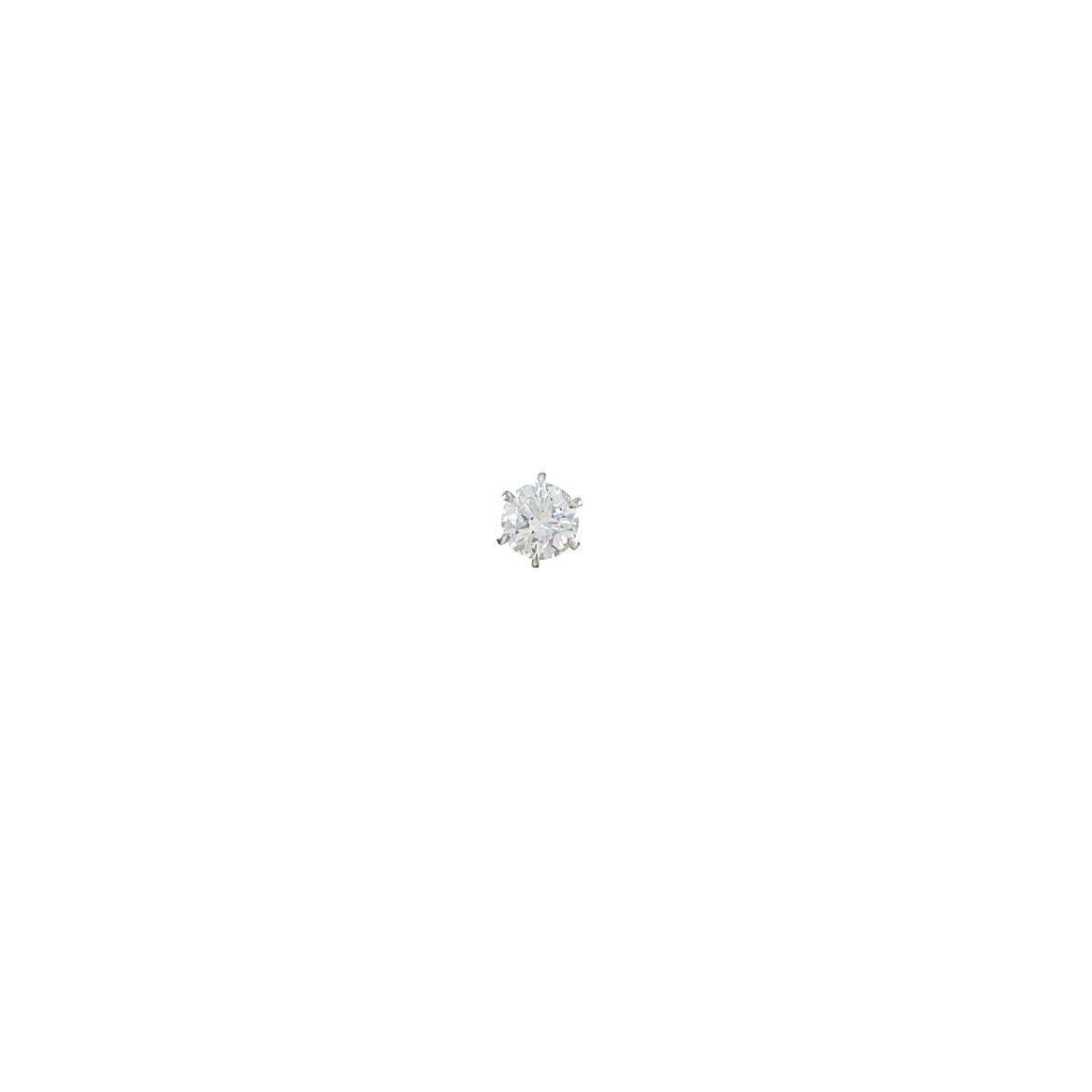 【リメイク】プラチナ/ST ダイヤモンドピアス 0.654ct・D・SI2・GOOD 片耳【中古】