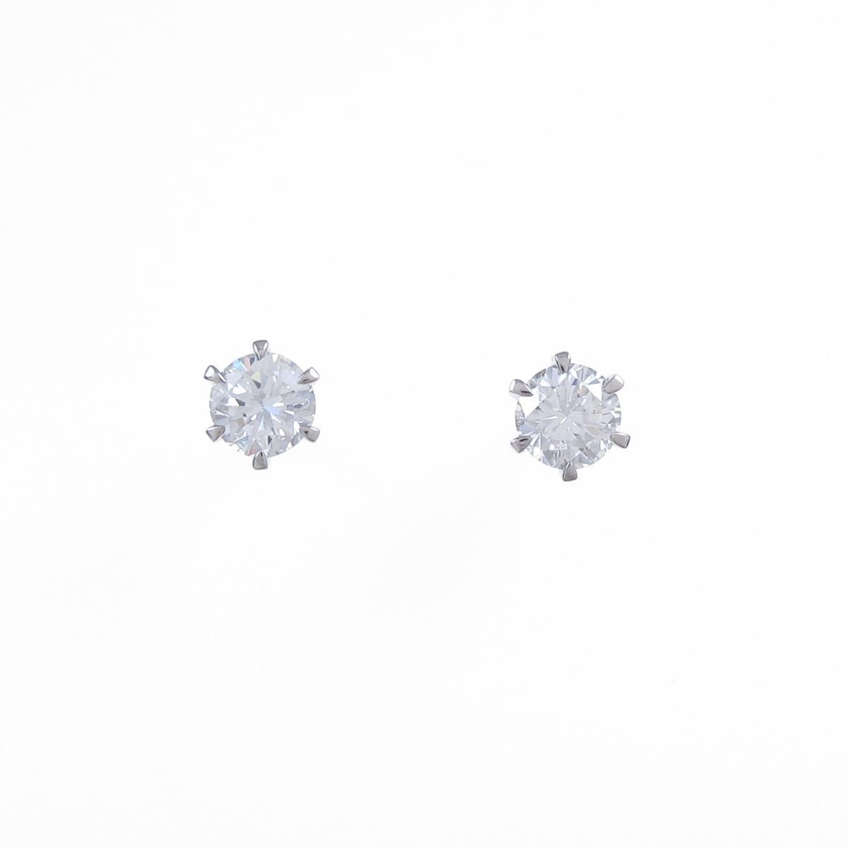 【リメイク】ST/プラチナダイヤモンドピアス 0.413ct・0.427ct・F-G・VS2・GOOD【中古】