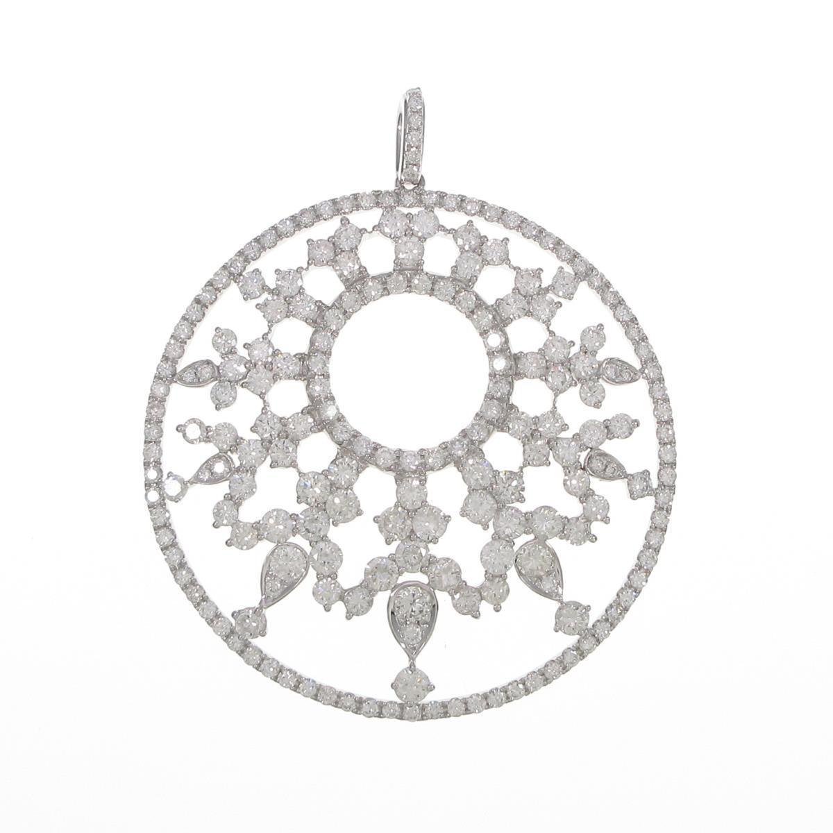 K18WG ダイヤモンドペンダント【中古】
