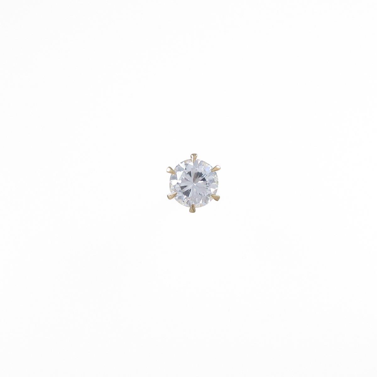 【リメイク】K18YG ダイヤモンドピアス 0.336ct・F・VS1・FAIR 片耳【中古】