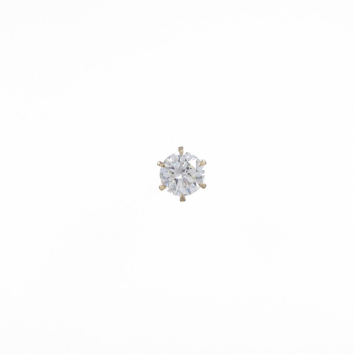 【リメイク】K18YG/STダイヤモンドピアス 0.515ct・L・SI1・GOOD 片耳【中古】