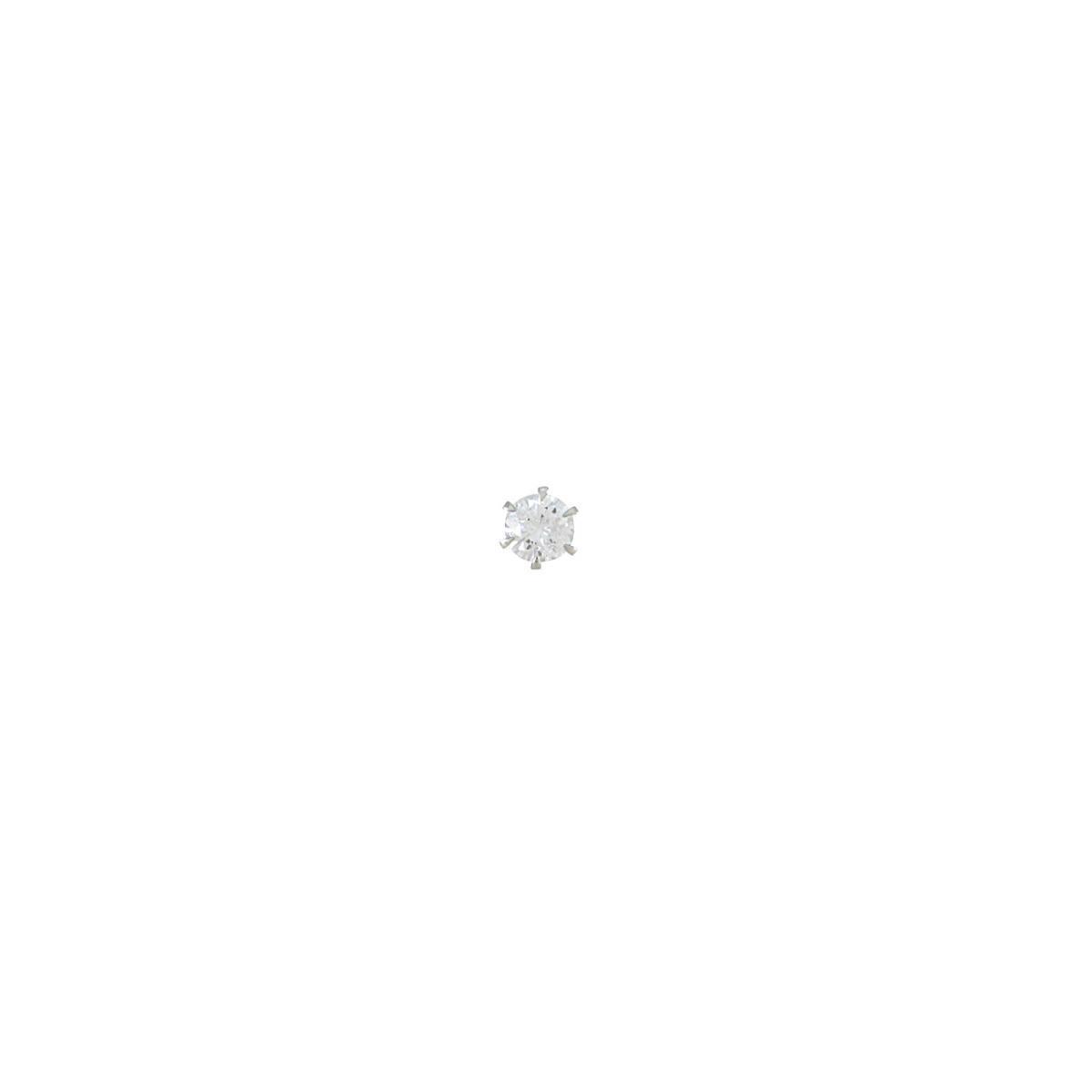 【リメイク】プラチナダイヤモンドピアス  0.329ct・F・I1・FAIR 片耳【中古】