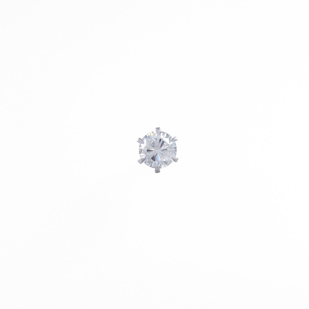【リメイク】ST/プラチナダイヤモンドピアス 0.377ct・G・VVS2・FAIR 片耳【中古】