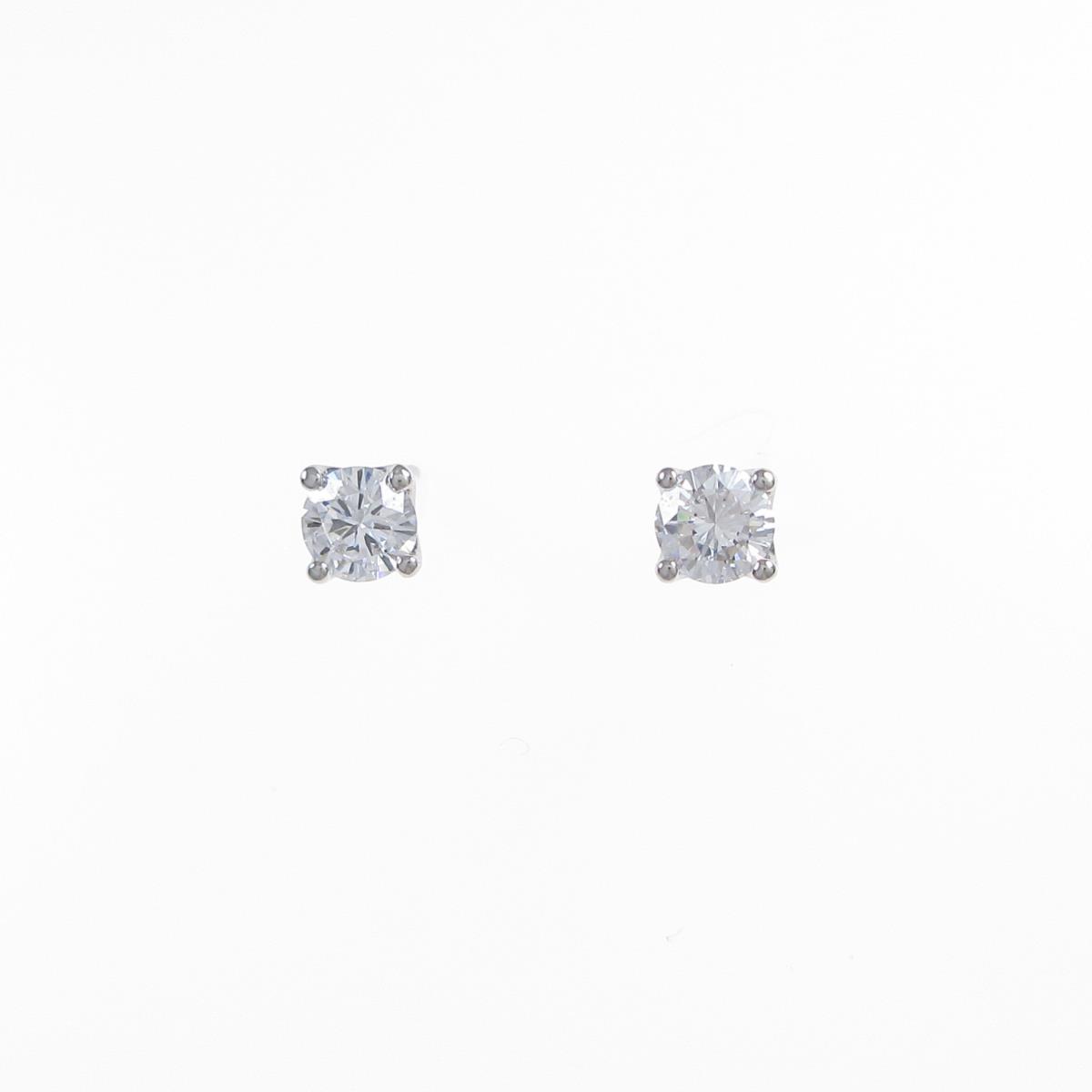 【リメイク】ST/プラチナダイヤモンドピアス 0.307ct・0.316ct・D・VS1・GOOD【中古】