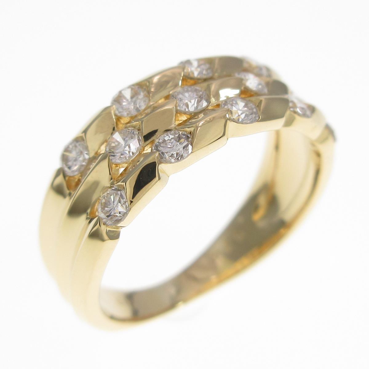 人気ブランド多数対象 K18YG ダイヤモンドリング 中古 低価格