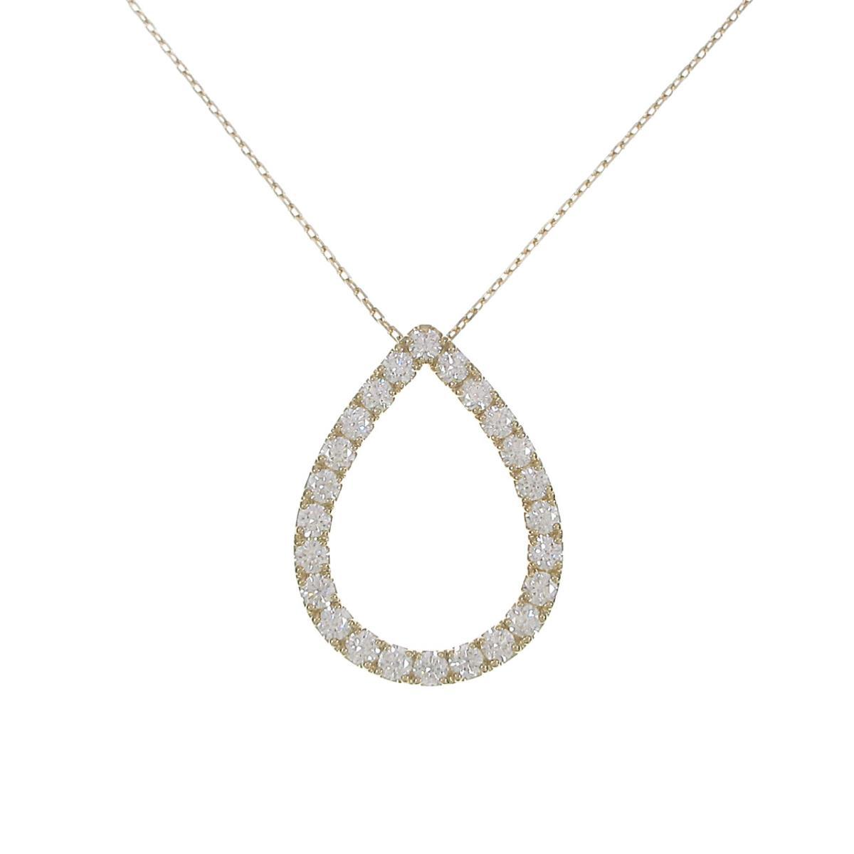 【新品】K18YGダイヤモンドネックレス 2.048ct・E・VVS1-SI1・VG【新品】