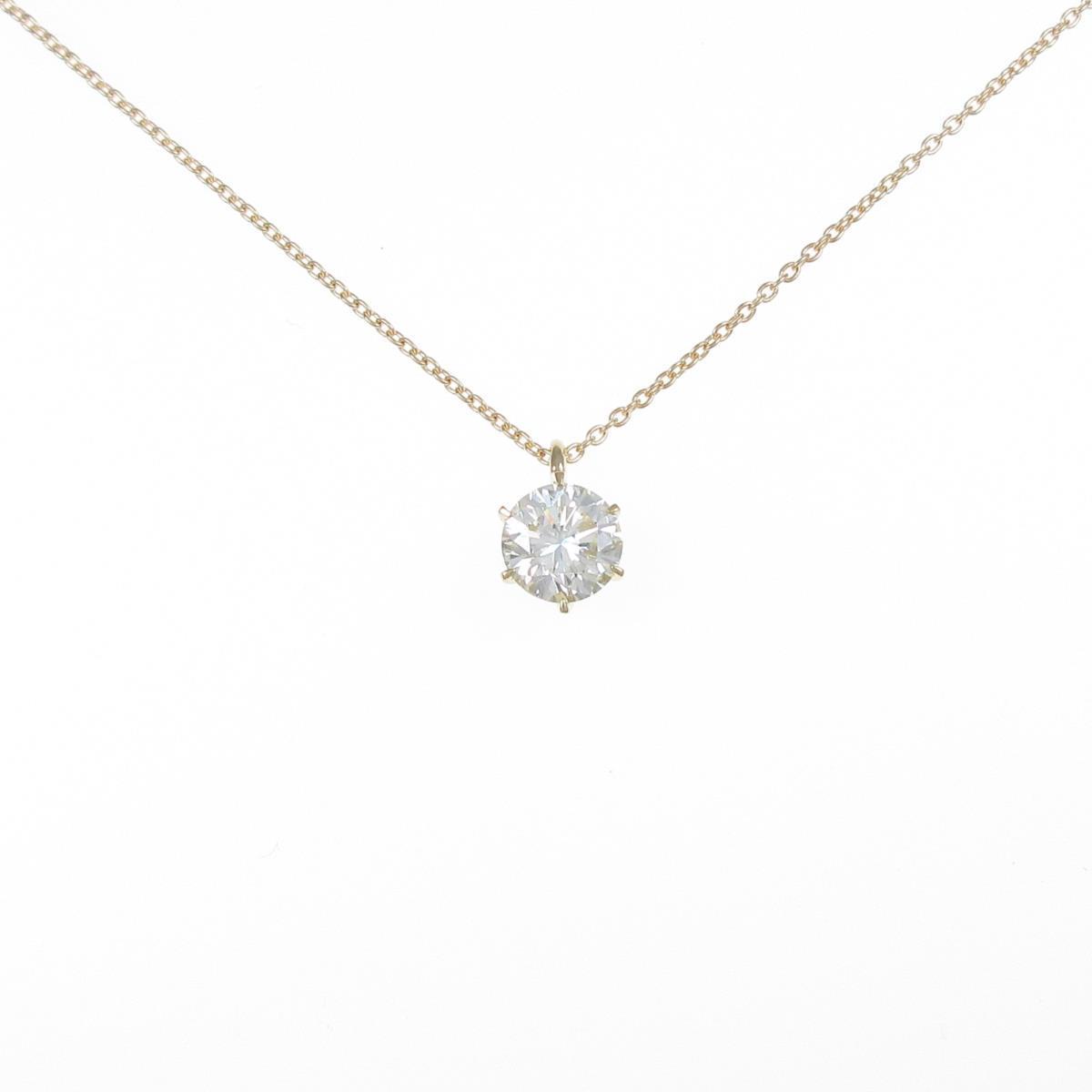 【リメイク】K18YGダイヤモンドネックレス 1.005ct・VLY・SI1・VG【中古】