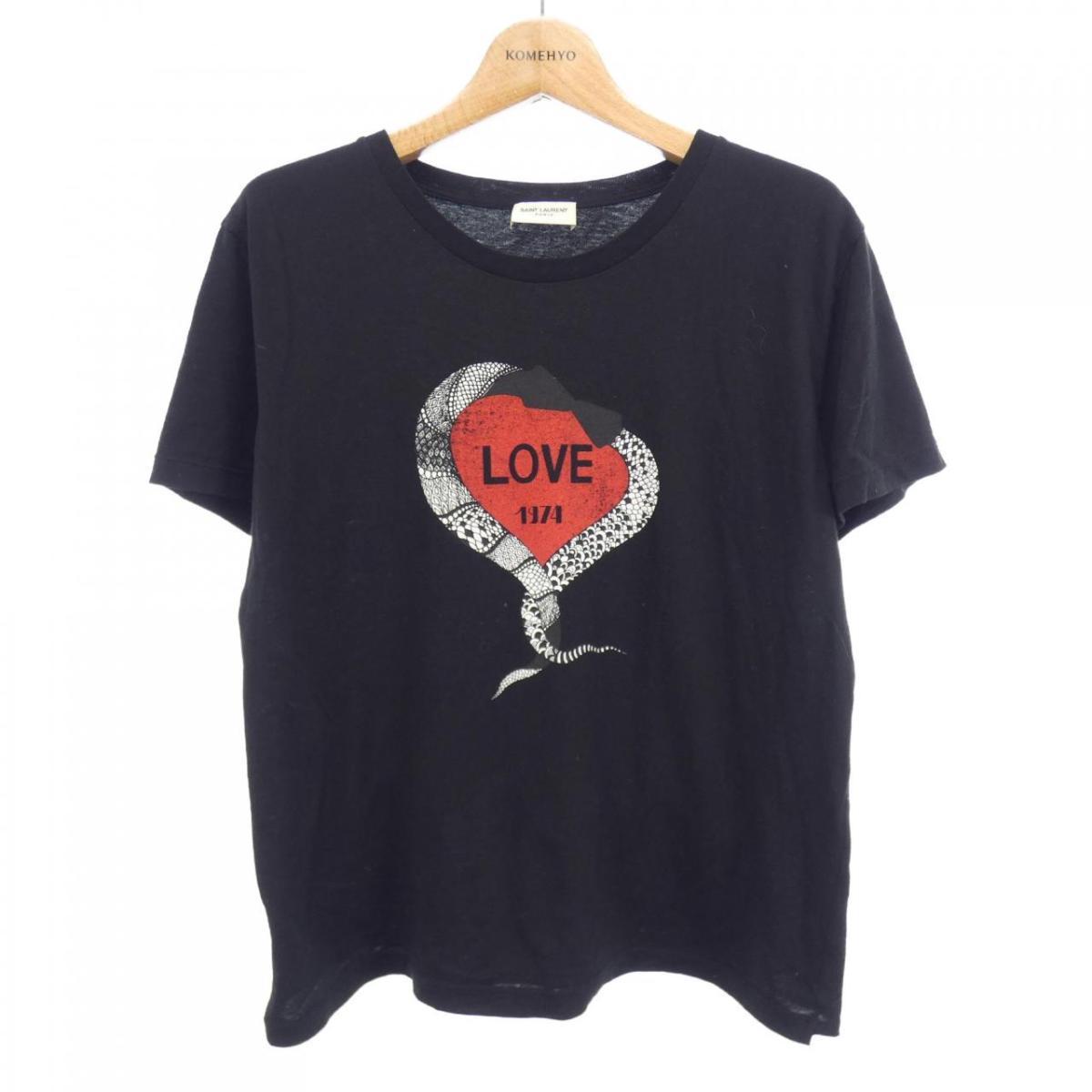 サン ローラン 限定価格セール SAINT 贈答品 Tシャツ LAURENT 中古