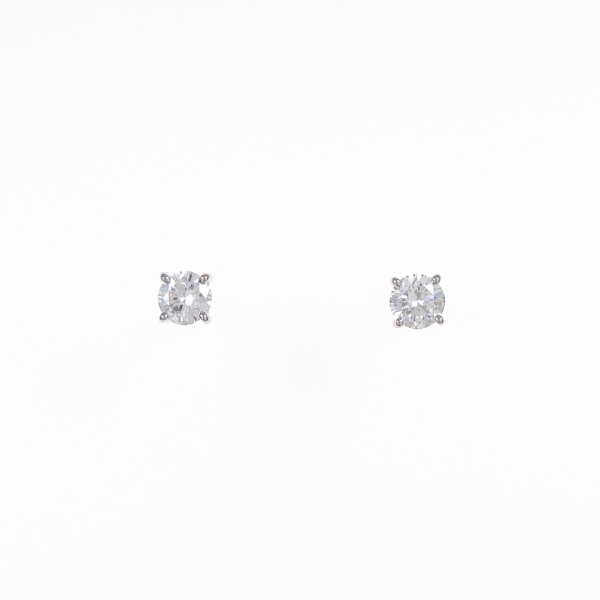 プラチナダイヤモンドピアス 0.200ct・0.236ct・G・VS2・GOOD【中古】
