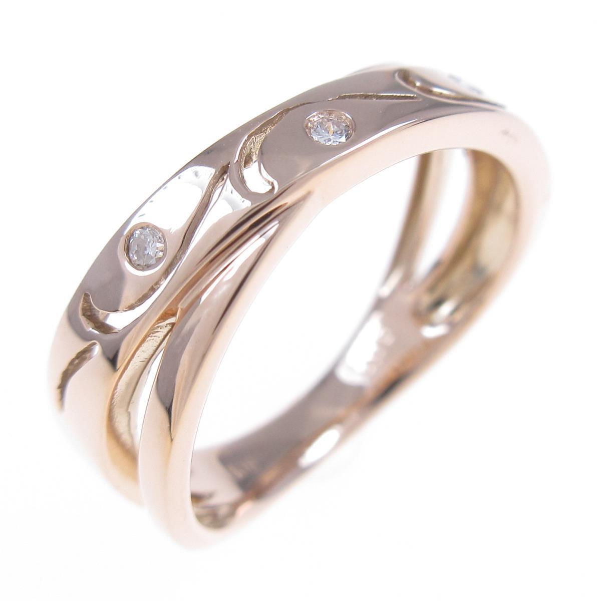 <title>K18PG スリーストーン ダイヤモンドリング 中古 格安 価格でご提供いたします</title>