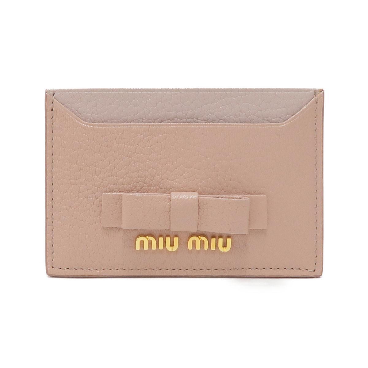 ミュウミュウ カードケース 贈答品 5MC208 アウトレットセール 特集 中古