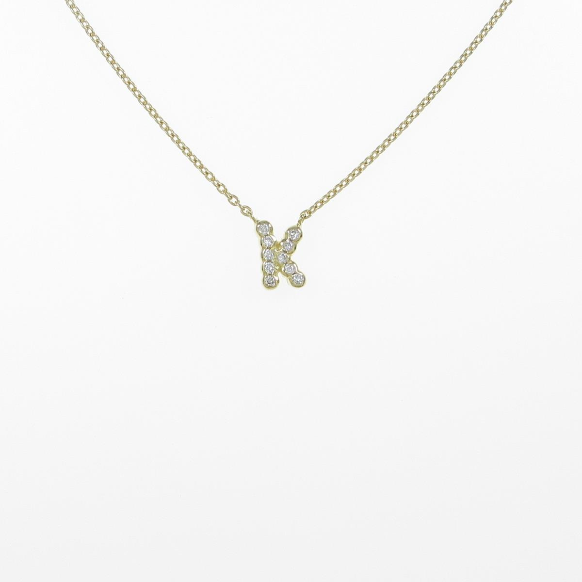 K18YG 限定価格セール イニシャルK 中古 オンラインショップ ダイヤモンドネックレス