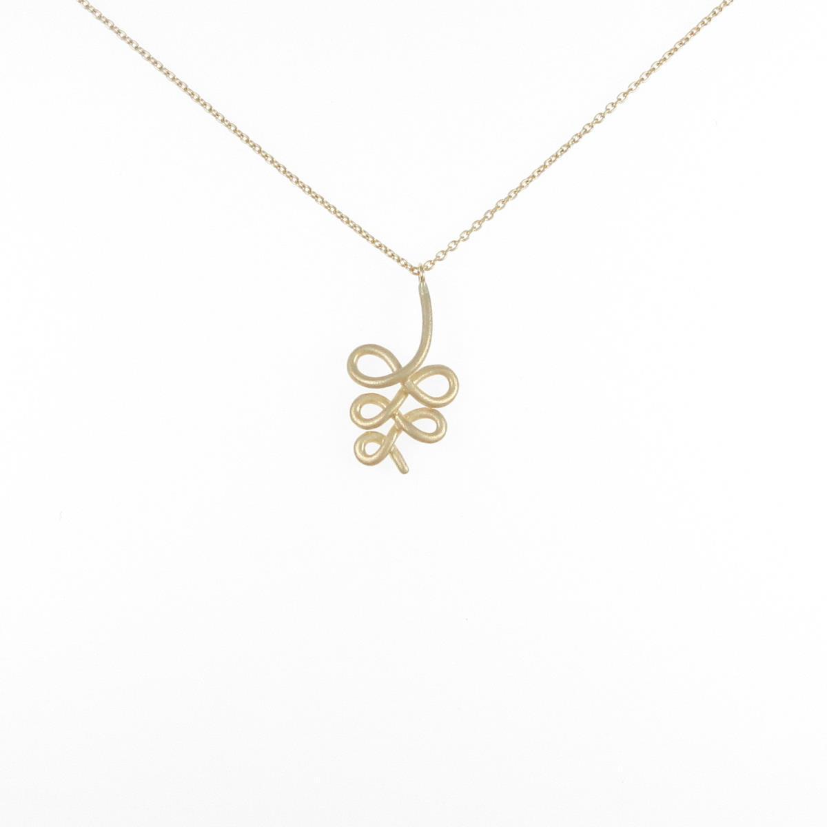 K18YG リーフ 誕生日 お祝い ネックレス 贈り物 中古