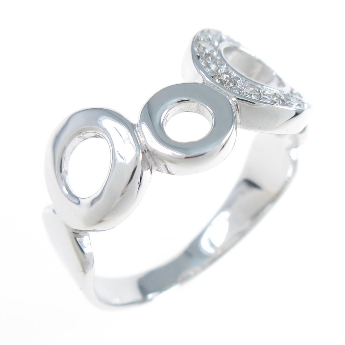 K18WG おすすめ ダイヤモンドリング 日本最大級の品揃え 中古