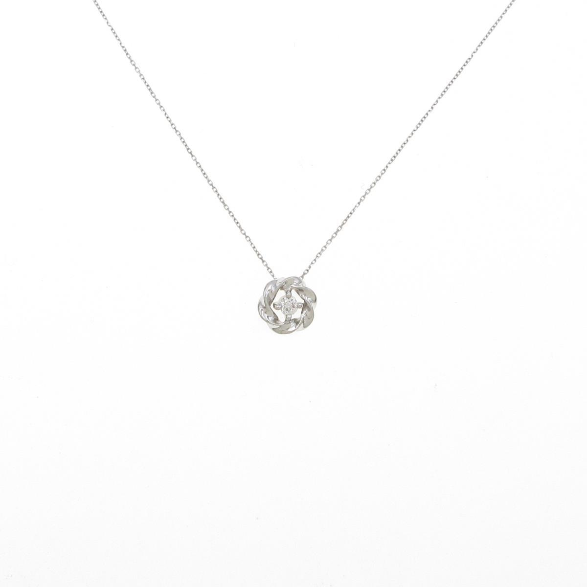 PT 卸売り フラワー ダイヤモンドネックレス 日本正規品 中古