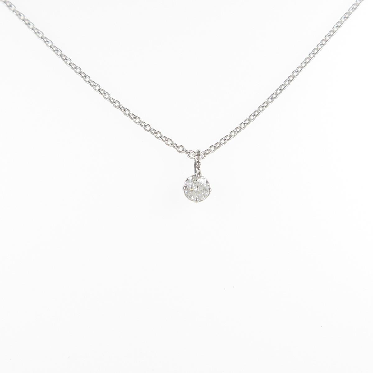 K18WG ソリティア セール特別価格 中古 ダイヤモンドネックレス 上品