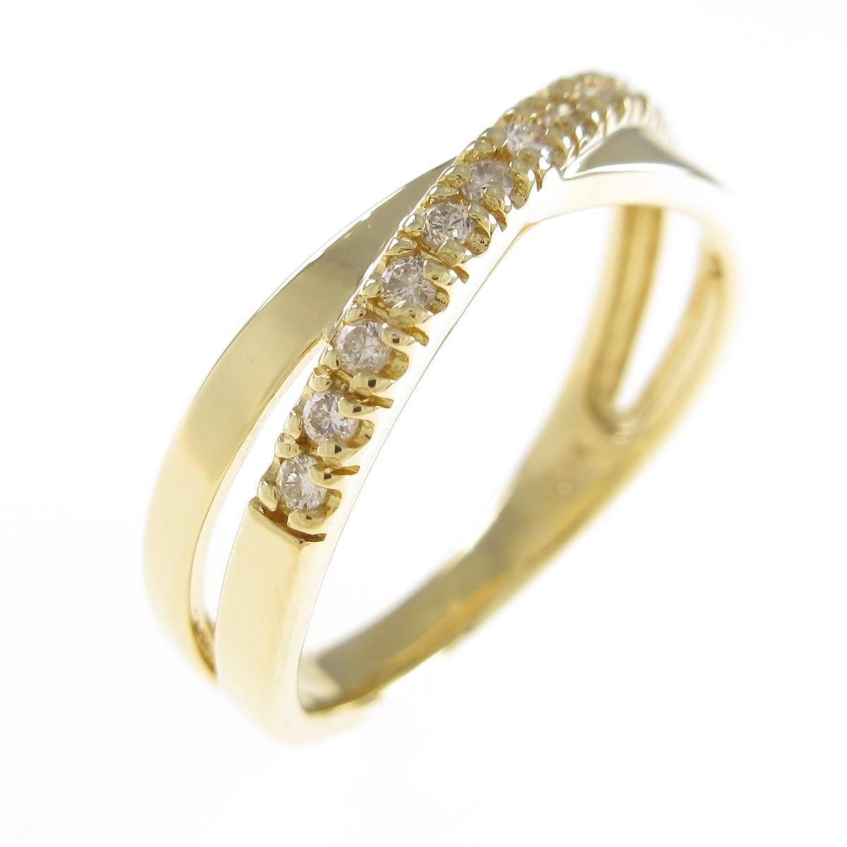 激安通販専門店 K18YG ダイヤモンドリング 毎日がバーゲンセール 中古