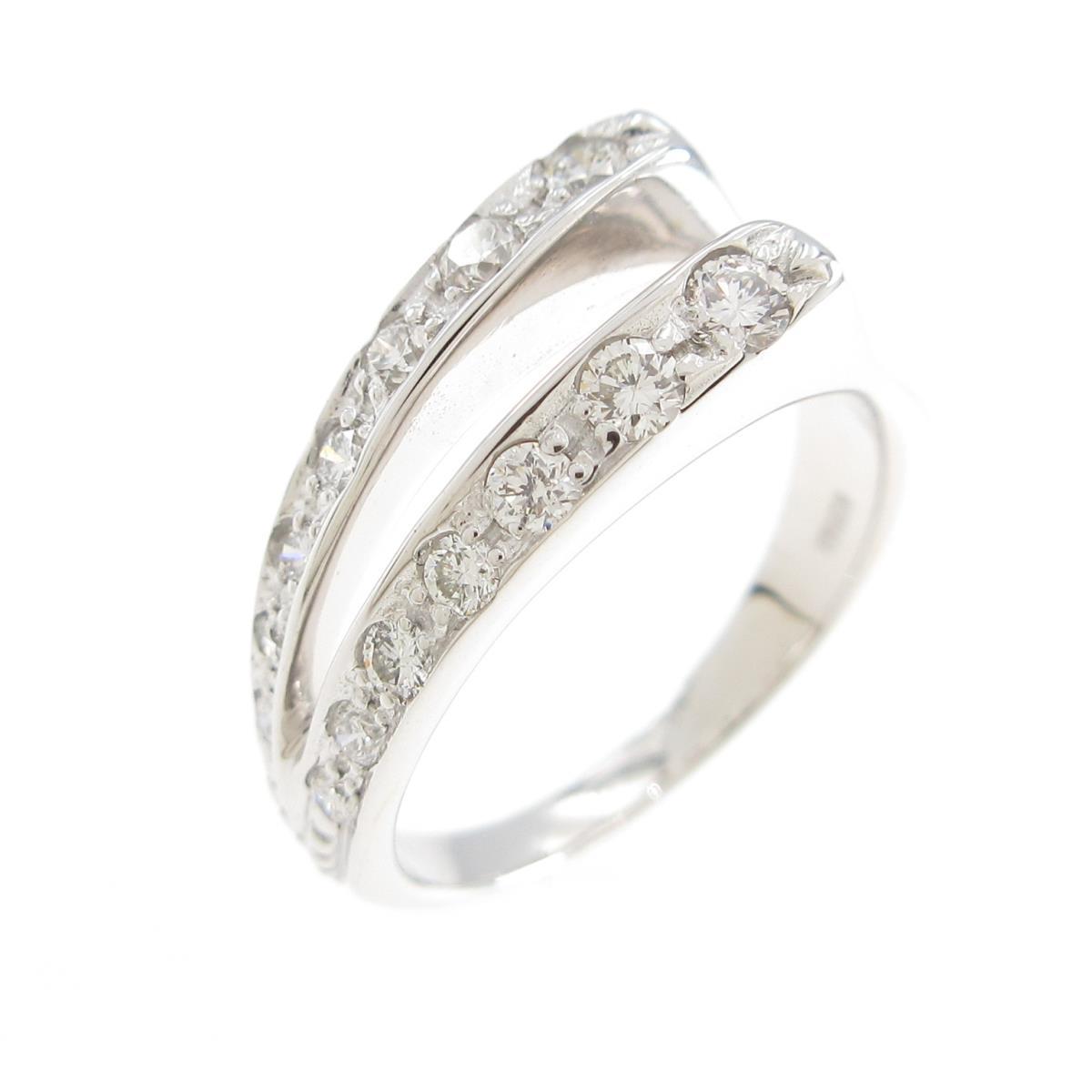 K18WG ダイヤモンドリング オンライン限定商品 通販 激安 中古