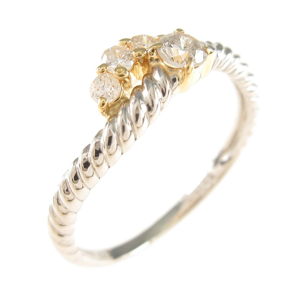 激安 激安特価 送料無料 PT 当店は最高な サービスを提供します K18YG 中古 ダイヤモンドリング