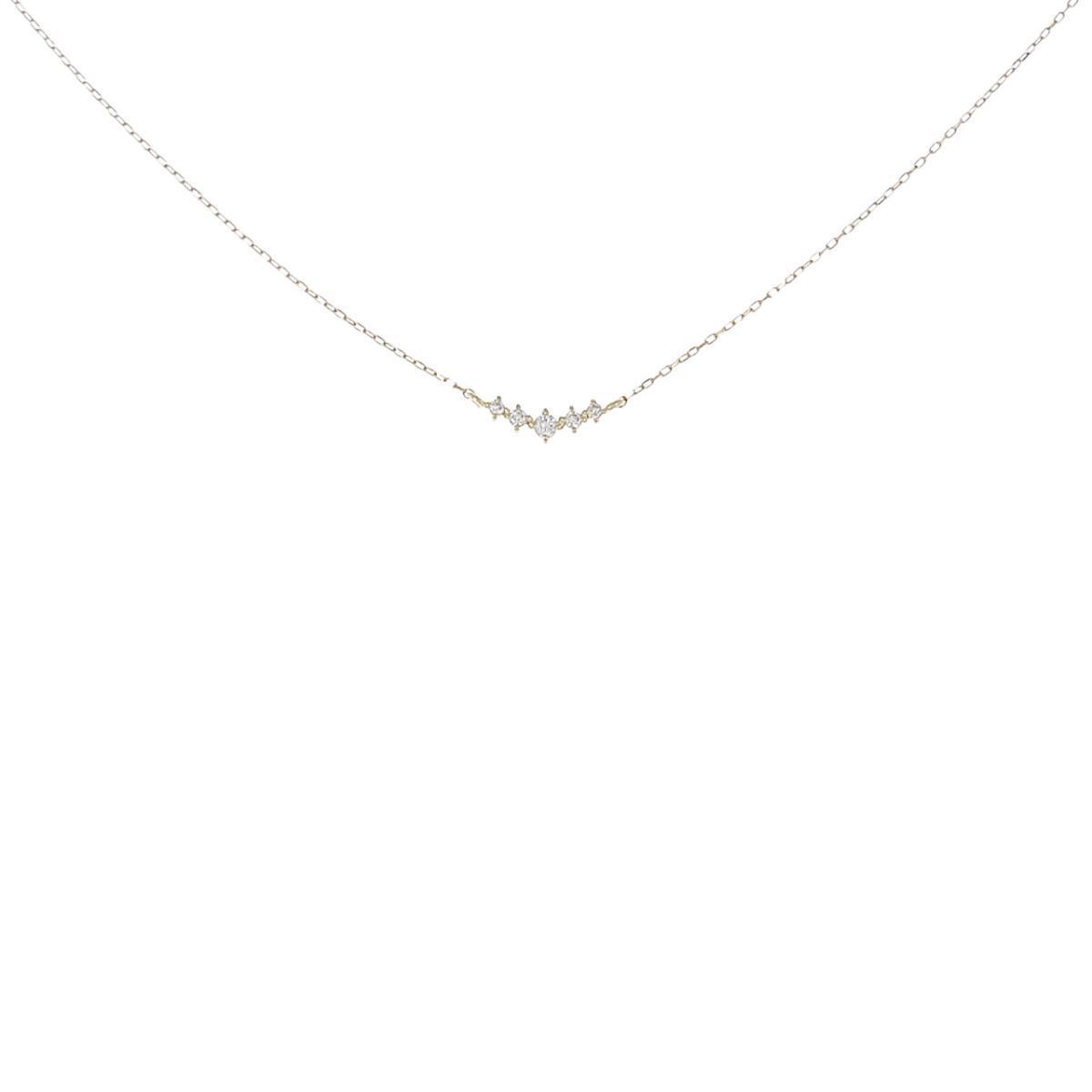 贈答品 K18YG 公式ショップ ダイヤモンドネックレス 中古