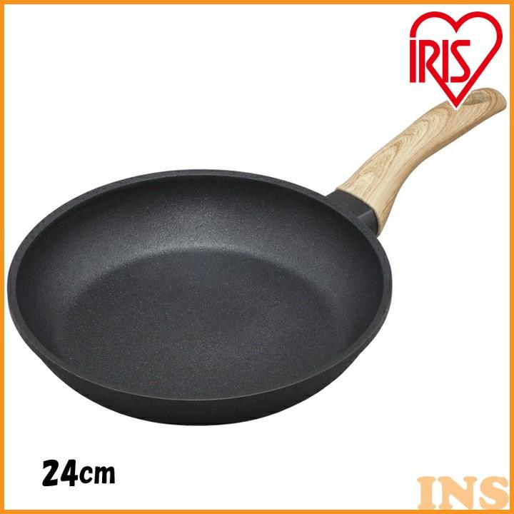 スキレットコートパン 24cm ブラック SKL-24GS すきれっと スキレットパン アルミ 軽い かるい おしゃれ インスタ フッ素コーティング キャンプ アウトドア 調理器具 フライパン アイリスオーヤマ
