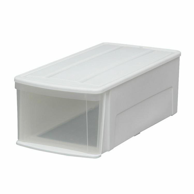 【12個セット】チェストILD ホワイト/クリア 送料無料 チェスト 収納ケース 収納ボックス 引き出し 収納 衣装ケース 衣類ケース クリアケース プラスチック 奥行74cm シンプル アイリスオーヤマ