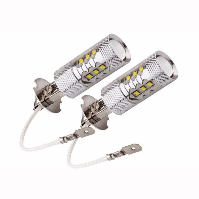 C88  H3 フォグライト フォグランプ12V LED CREEチップ搭載 6500K ホワイト汎用 16SMD 2個セット