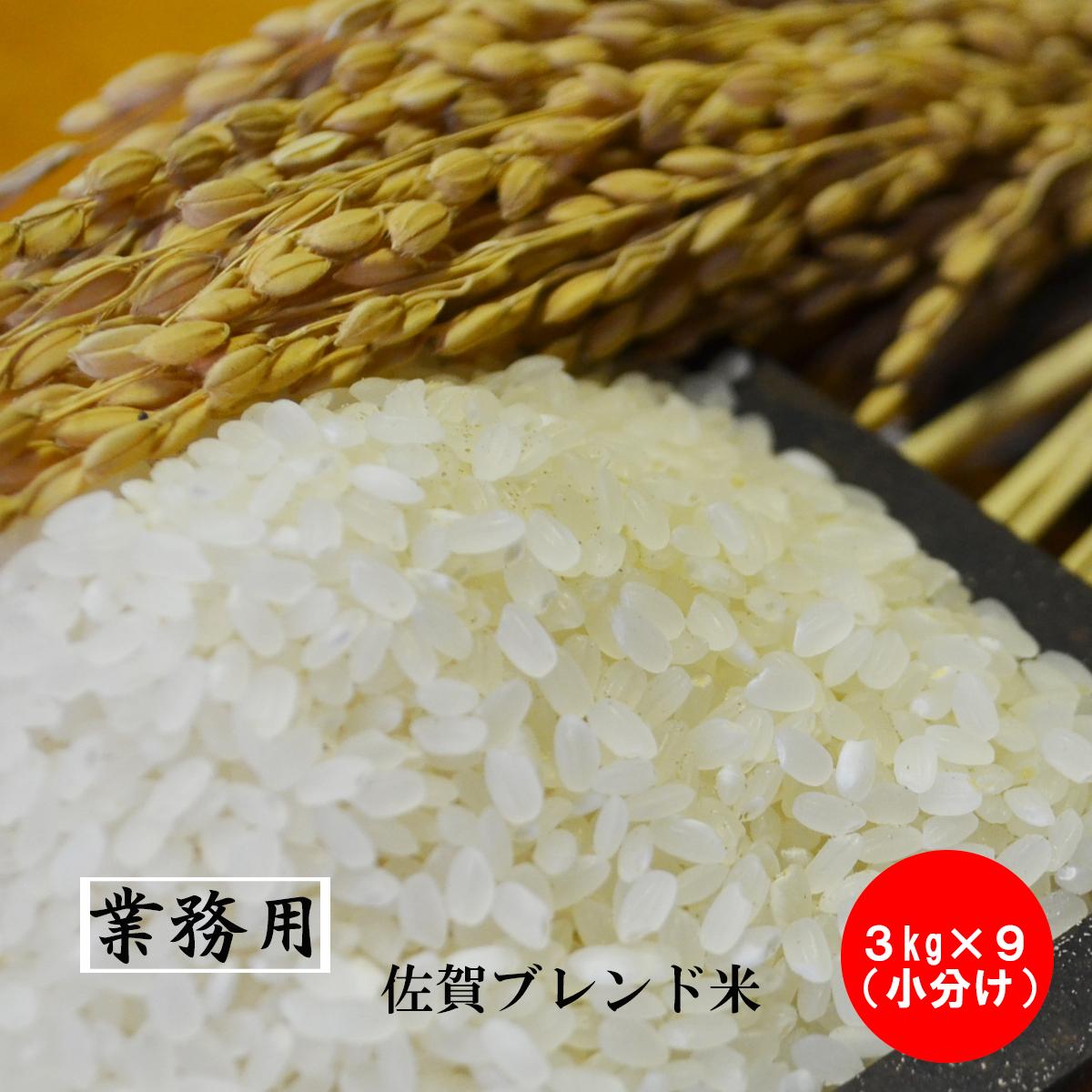 【業務用米】佐賀県産 厳選ブレンド米 【小分け】白米27kg(3kg×9)(2升×9)米 お米 送料無料