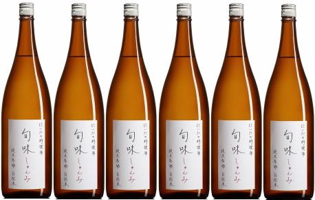 旬味(しゅんみ)』 純米原酒~金寳自然酒の料理酒 1800ml×6本セット