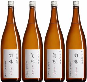 『旬味(しゅんみ)』 純米原酒~金寳自然酒の料理酒 1800ml×4本セット