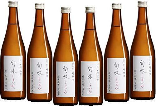 『旬味(しゅんみ)』 純米原酒~金寳自然酒の料理酒 720ml×6本セット