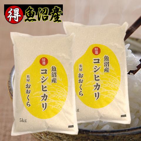 特A(特選)魚沼産コシヒカリ(平成30年産)10kg【(本州のみ)】