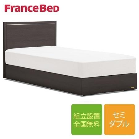 フランスベッド GR-01F 引き出し無し 高さ22.5cm セミダブルフレーム 布張り床板(マットレス別売)