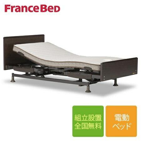 【限定クーポン発行中】フランスベッド レステックス-02Fフレーム+イーゼルRXマットレス 低床3モーター電動シングルベッド