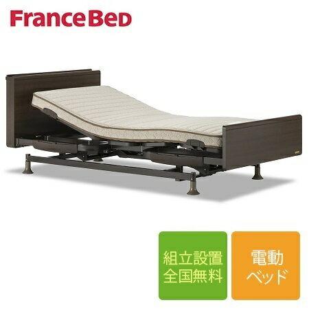 【限定クーポン発行中】フランスベッド レステックス-05Cフレーム+イーゼルRXマットレス 3モーター 電動シングルベッド
