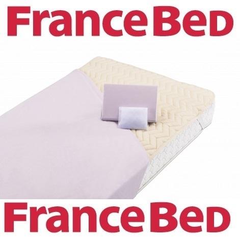 送料無料 フランスベッド ベッド用品3点セット グッドスリーププラスバイオ3点 ワイドダブルロング/抗菌防臭/洗濯可能
