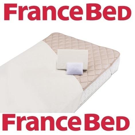 送料無料 フランスベッド ベッド用品お買い得3点セット グッドスリーププラス羊毛3点パック セミダブルロングサイズ/英国産羊毛100%/洗濯可能/羊毛ベッドパッド