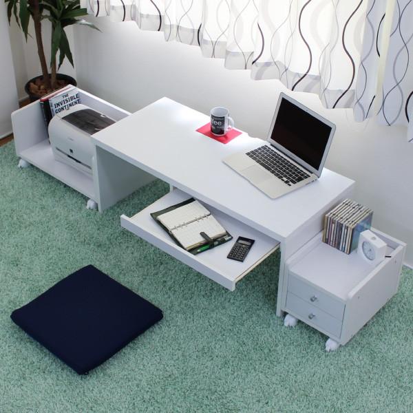 卸売 デスク パソコンデスク ロータイプデスク3点セットスライドテーブル 90cm幅 デスク+ラック+チェスト LOD-390-DBR省スペースな空間にも、コンパクト収納のデスクは使いやすくて大変便利。LOD-390-DBR 机 学習机 デスク PCデスク PC台 つくえ コンパクト ダークブラウン, 照明ライト イルミっ子 fd09d96c